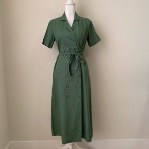 Urban Outfitters Dresses - NWT Urban Outfitters green button up midi dress